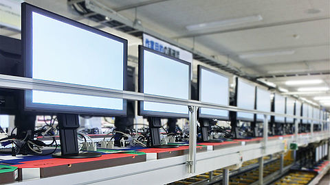 EIZO monitor in production
